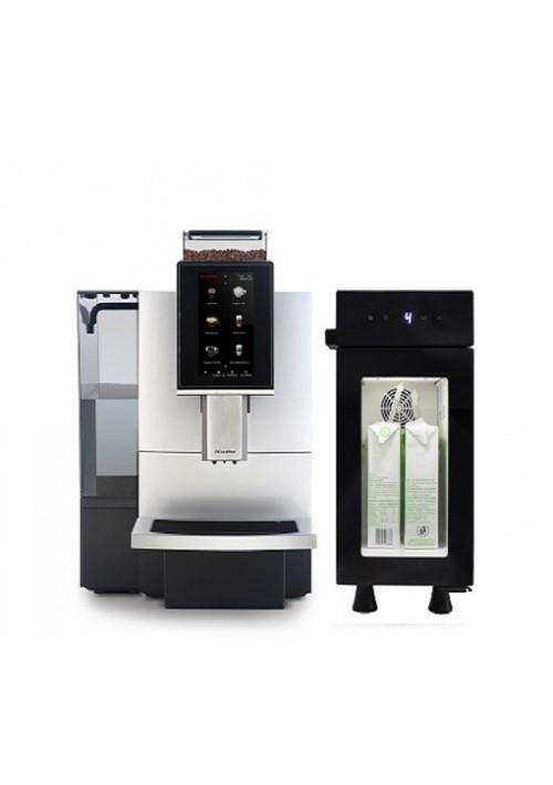 Dr.Coffee F12 + melkkoeler +auto reiniging.Watertank en/of vaste wateraansluiting